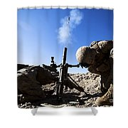 U.s. Marines Brace Themselves While Shower Curtain