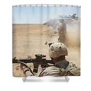 U.s. Marines Fire Several Shower Curtain