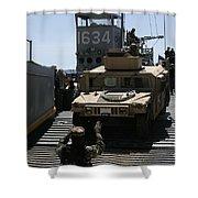 U.s. Marines Load An M1114 Humvee Onto Shower Curtain