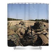 U.s. Marines Participate In A Known Shower Curtain