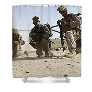 U.s. Marines Unloading Shower Curtain
