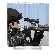 U.s. Navy Chief Uses An La9p Nonlethal Shower Curtain