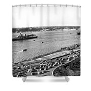 U.s. Navy In The Hudson River Shower Curtain