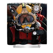 U.s. Navy Officer Wears The Mk-21 Mod Shower Curtain by Stocktrek Images