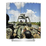 U.s. Navy Riverine Squadron Shower Curtain