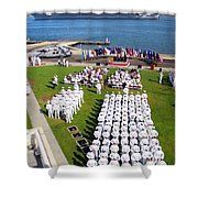 U.s. Navy Sailors Attend An Shower Curtain