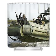 U.s. Navy Sailors Conduct A Hot Shower Curtain