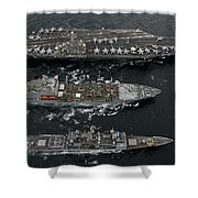 U.s. Navy Ships Conduct A Replenishment Shower Curtain