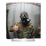 U.s. Navy Soldier Shows He Is Stable Shower Curtain