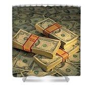 U.s. Paper Money Shower Curtain