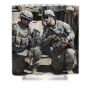 U.s. Soldiers Coordinate Security Shower Curtain by Stocktrek Images