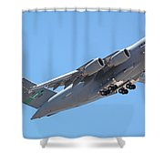 Usaf C-17 Lift Off  Shower Curtain