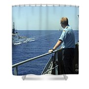 Uscgc Thetis Approaches A German Combat Shower Curtain