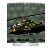Usmc Ah-1 Cobra Shower Curtain