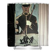 Usmc Mural  Shower Curtain