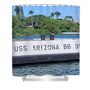 Uss Arizona Bb 39 Marker Shower Curtain