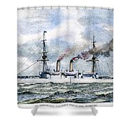 Uss Boston, 1890 Shower Curtain