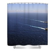 Uss Boxer, Uss Comstock And Uss Green Shower Curtain