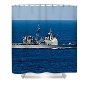 Uss Mobile Bay Transits The Pacific Shower Curtain