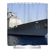 Uss Monterey Arrives Shower Curtain