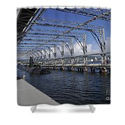 Uss Olympia Moored In A Submarine Shower Curtain