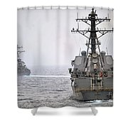 Uss Porter And Uss Nitze Participate Shower Curtain