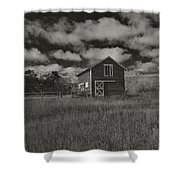 Utah Barn In Black And White Shower Curtain