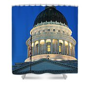 Utah State Capitol Building Dome At Sunset Shower Curtain