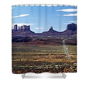 Utah, Usa Highway And Rock Formations Shower Curtain