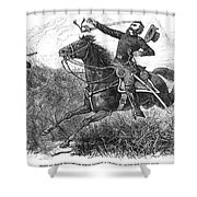 Utes: White River Attack Shower Curtain