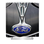V8 Emblem Shower Curtain