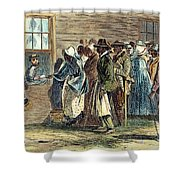 Va: Freedmens Bureau 1866 Shower Curtain by Granger