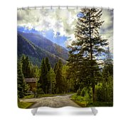 Vail Country Road 1 Shower Curtain