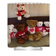 Valentine Bears  Shower Curtain