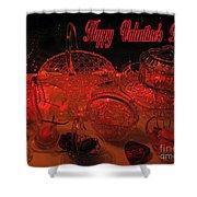 Valentine Crystal  Shower Curtain