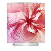 Valentine Flower Shower Curtain