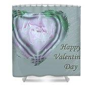 Valentine Pink Tree Peony Shower Curtain