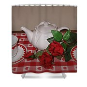 Valentine Tea For Two  Shower Curtain