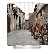 Valldemossa Shower Curtain by Ana Maria Edulescu