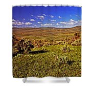 Valley At Fossil Butte Nm Shower Curtain