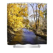 Valley Forge Creek In Autumn Shower Curtain