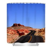 Valley Of Fire Road And Sky Nevada Shower Curtain