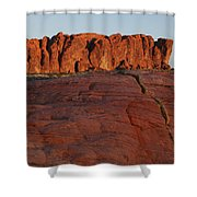 Valley Of Fire Rockscape Shower Curtain