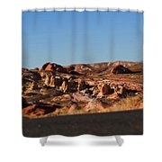 Valley Of Fire Winding Road Shower Curtain