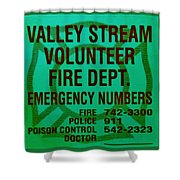 Valley Stream Fire Department In Irish Green Shower Curtain