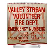 Valley Stream Fire Department Shower Curtain by Rob Hans