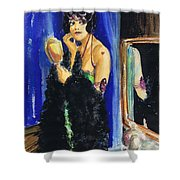 Vamp With Mirrors Shower Curtain