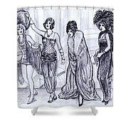 Vamps Shower Curtain