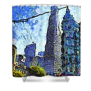 Van Gogh Sips Absinthe And Takes In The Views From North Beach In San Francisco . 7d7431 Shower Curtain