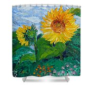 Van Gogh Sunflowers Shower Curtain